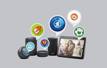 Jeder Echo-Lautsprecher kann mit Alexa Skills um kostenlose Zusatzfunktionen ergänzt werden