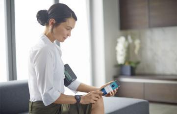 """Übersicht der Blutdruckwerte in der """"Health Suite"""" von Philips"""