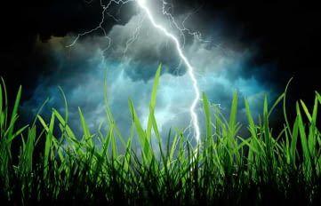 Ein Unwetter kann Mähroboter in Stress versetzen