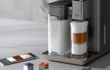 Die Qbo Kaffee-Kapselmaschine mit App für Android und iOS