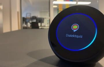 Lässt sich mit jedem Echo-Gerät spielen: der Dialektquiz Alexa Skill