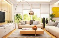 Modernes freundliches Wohnzimmer