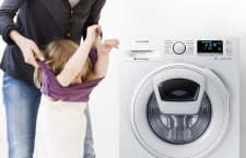 Die Samsung WLAN-Waschmaschine WW80K6404QX überzeugt mit intelligenten Funktionen und niedrigem Energieverbrauch
