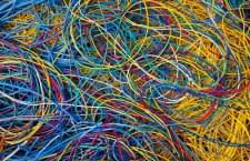 Kabel schließen im Google Brain CPU-Server zu Synapsen zusammen