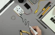 Die leitfähige Electric Paint erstellt Schaltkreise