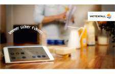 Vattenfall Qivicon Smart Home Steuerung mit Tablet
