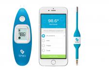 Abbildung des Kinsa Smart Thermometer für das Smartphone